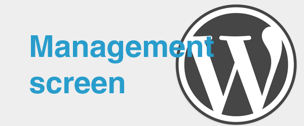 Management-screen