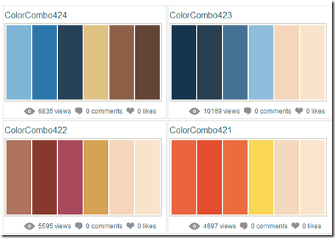 Color Combinations   Color Schemes   Color Palettes
