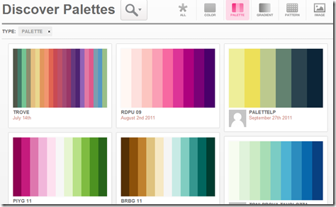 Discover Palettes - Art   Design Inspiration at ColRD.com