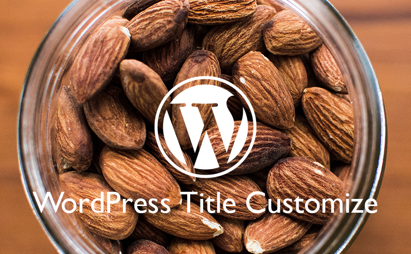WordPress Title Custom